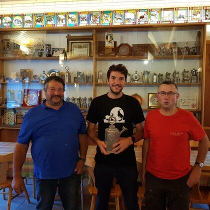 Campionato Sociale B: Vincenzo Crameri 2°, Tiziano Crameri 1°, Luca Lanfranchi 3°
