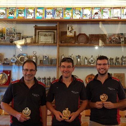Tiro di finale A: Giorgio Murbach 2°, Reto Costa 1° e Romano Rossi 3°